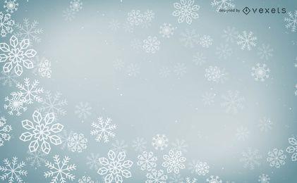 Desenho vetorial de flocos de neve