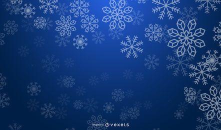 Blauer schneebedeckter Hintergrund