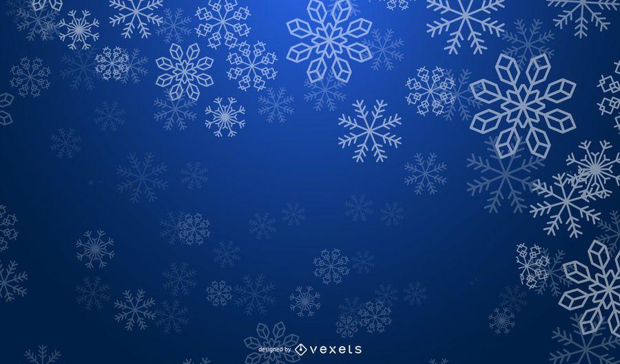 Fondo azul nevado