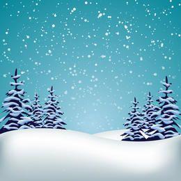 Vector paisaje de invierno