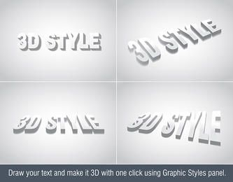 Efeito do texto 3D