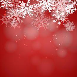 Fondo de copo de nieve rojo