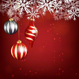 Adornos de navidad de fondo