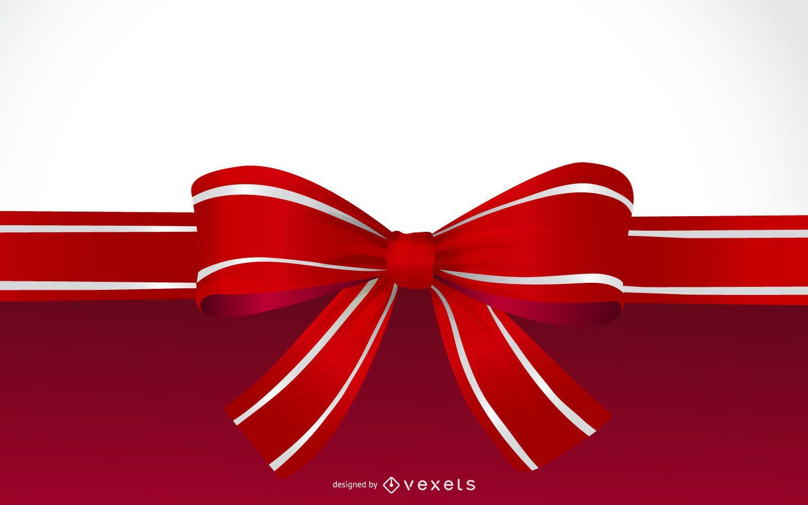 Christmas Ribbon background design
