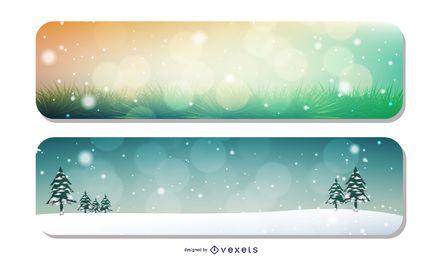 Fundos de Banner de Natal