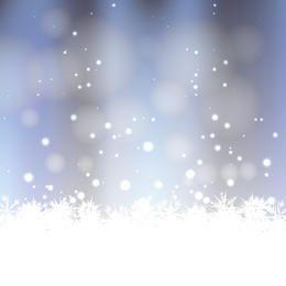 Fundo do inverno do vetor com neve e geada