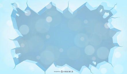Vector fondo de invierno con nieve y heladas