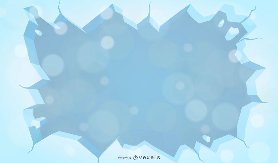 Inverno de fundo Vector com neve e geada