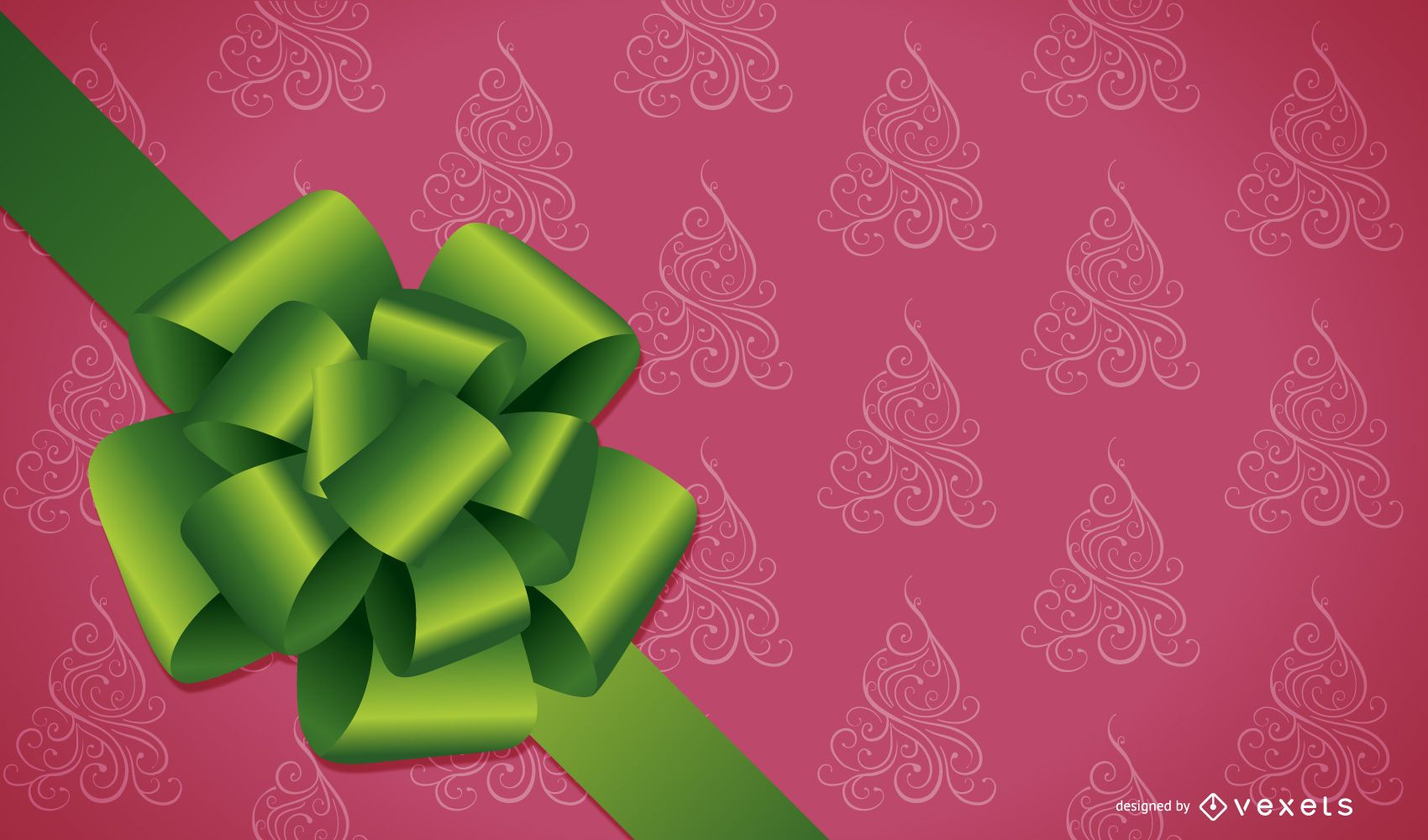 Christmas Design with Ribbon