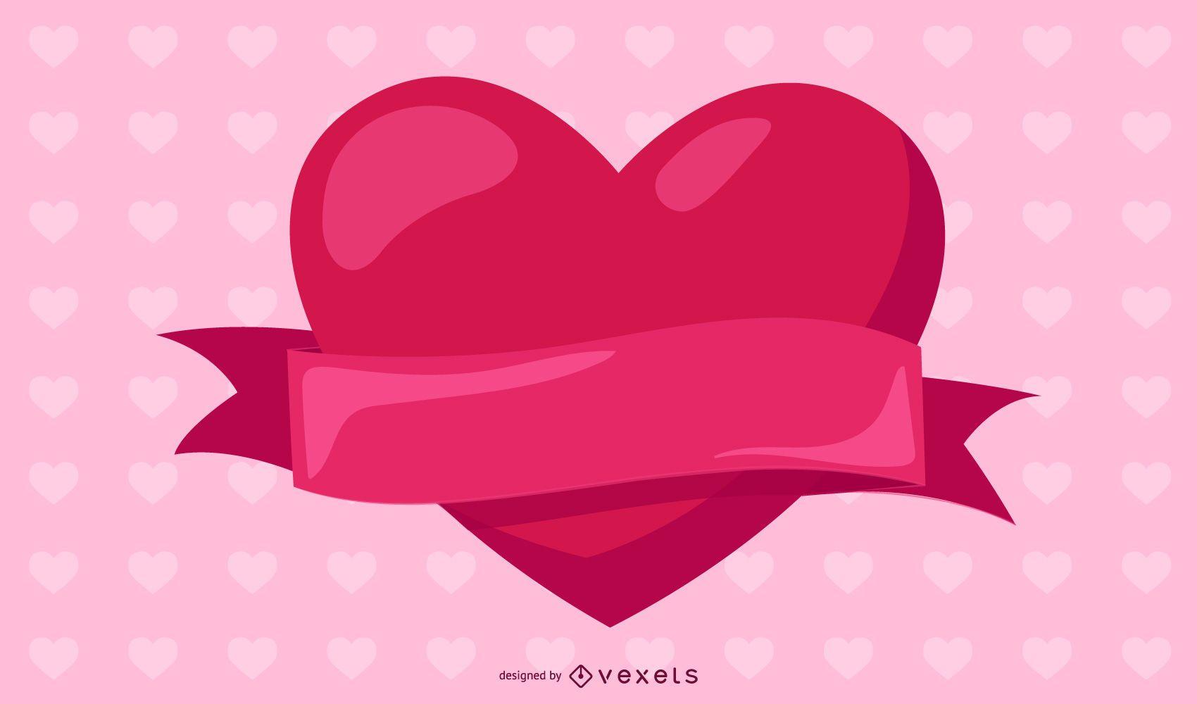 Corazón rojo del vector