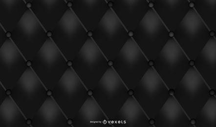 Estofamento de couro preto