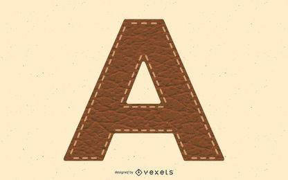 Stiched Leather Letter A