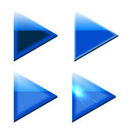 Blue Triangle Arrows