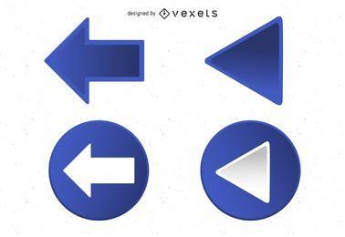 Blaue Dreieckpfeile