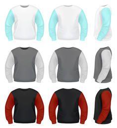 Vector suéter plantilla