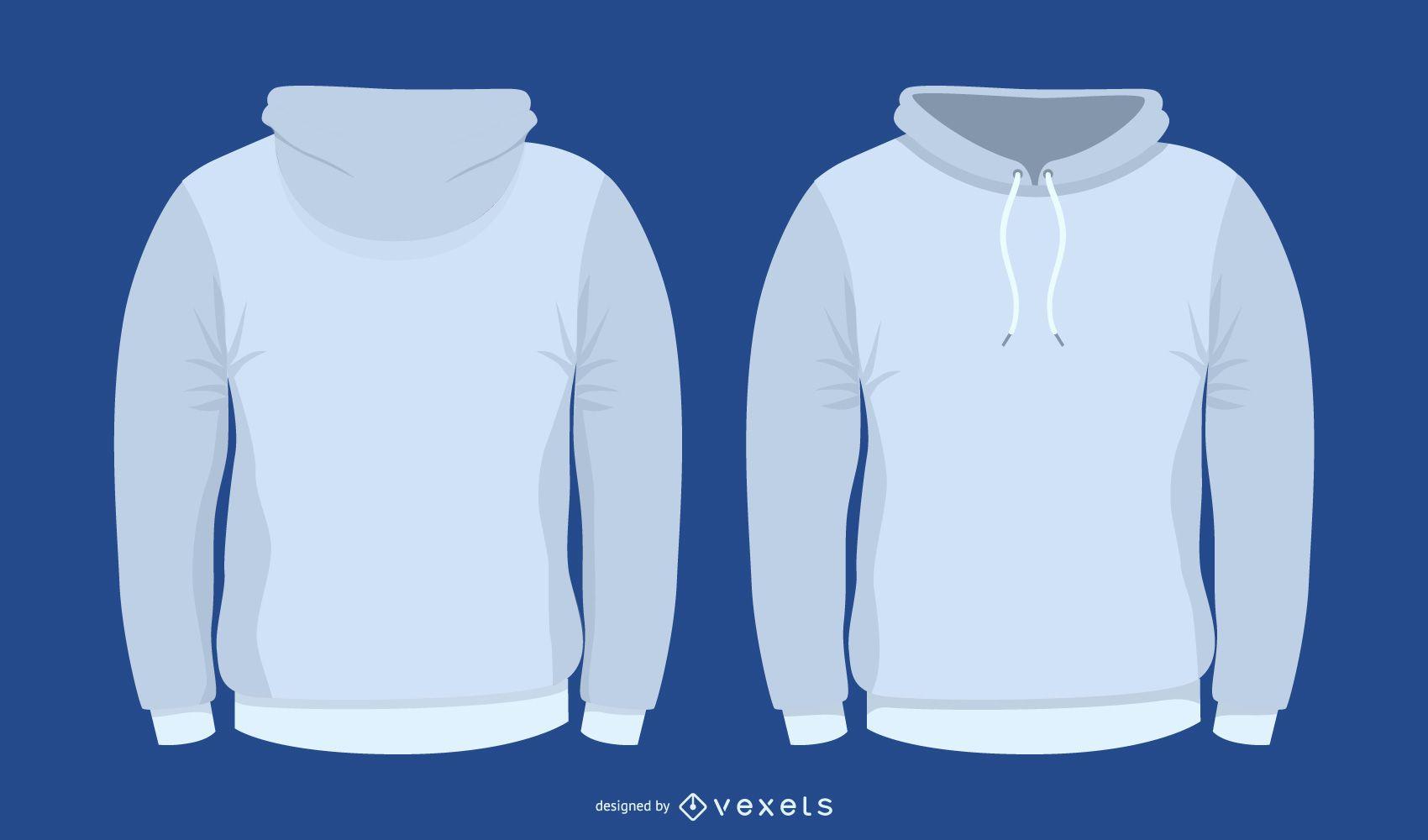 Conjunto de suéter de vetor