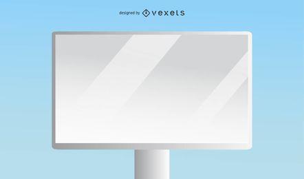 Weiße Plakatwand