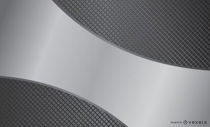 Silberfarbenes Metall