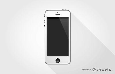 Teléfono blanco móvil