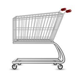 Carrinho de compras de vetor