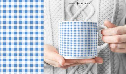 Blaue Gingham-Textur