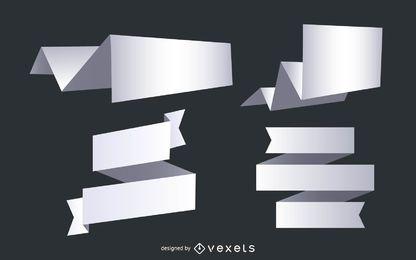 Formas de papel com sombras