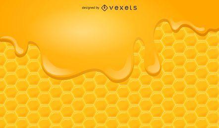 Fondo hexagonal de miel