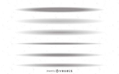 Sombras de objetos
