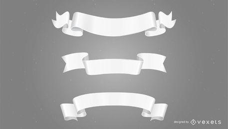 Banners de papel blanco