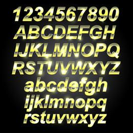 Golden Metal Font