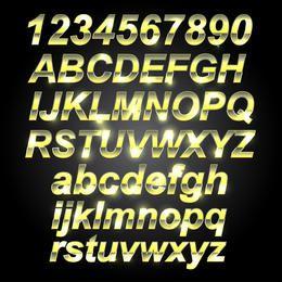 Metal dourado Font