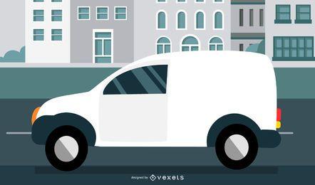 Weißer Minivan