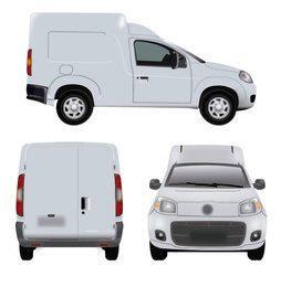 Minivan blanco