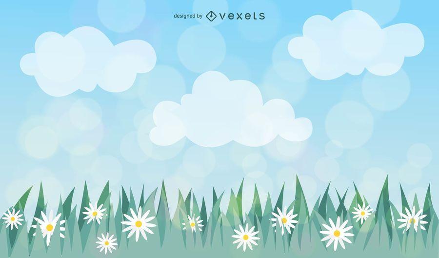 Hierba de primavera
