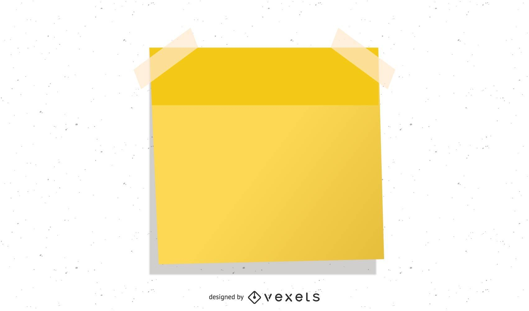Ilustración de post-it doblado