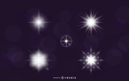 Efeitos de luz de vetor