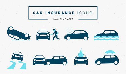Ícones de seguro de carro