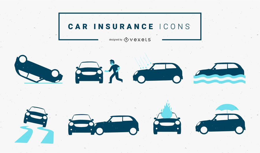 Iconos de seguro de coche
