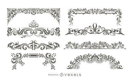 Adornos decorativos de vectores