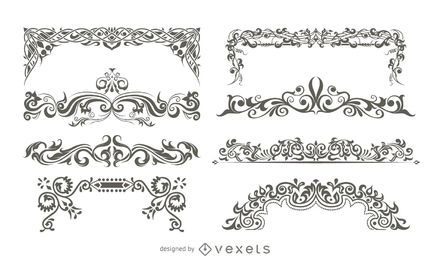 Ornamentos decorativos de vetor