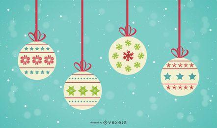 Vectores y gr ficos de esferas - Bolas gigantes de navidad ...