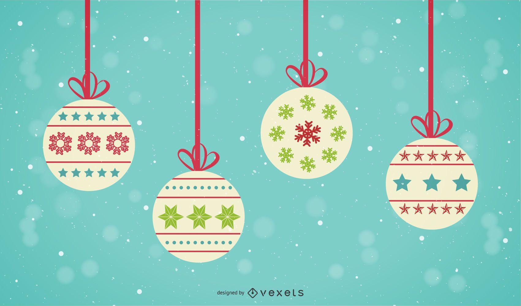 Vektor-Weihnachtskugeln