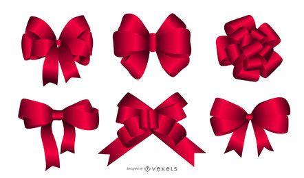 Vector cintas de navidad