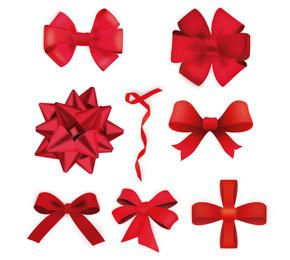 Vector Christmas Ribbons