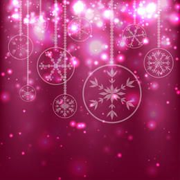 Red ornaments christmas background