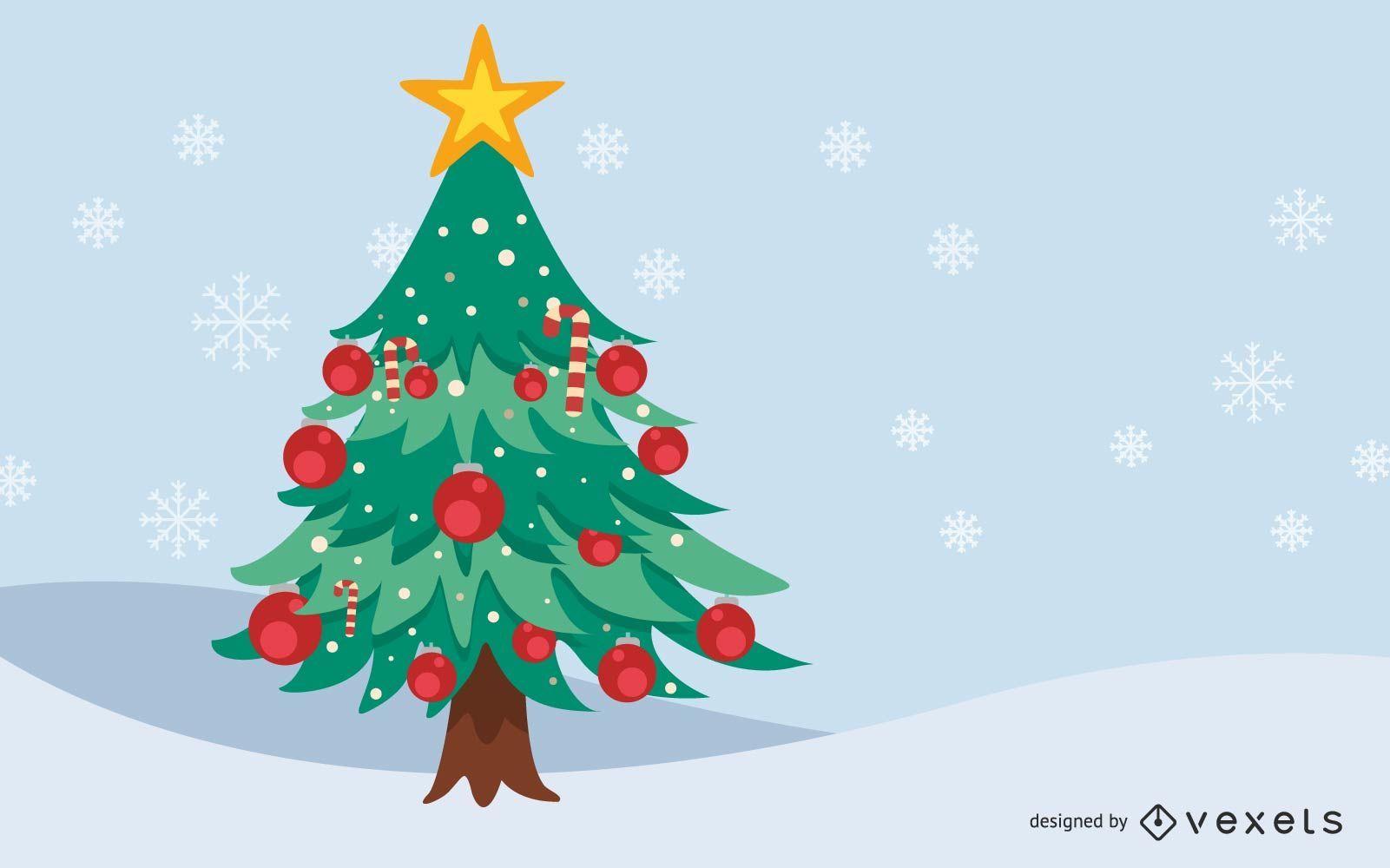 ?rbol de Navidad decorado