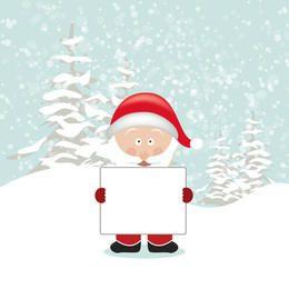 Santa Holding Empty Board