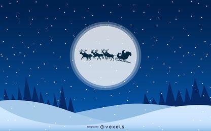 Fundos de Natal de Santa Moon