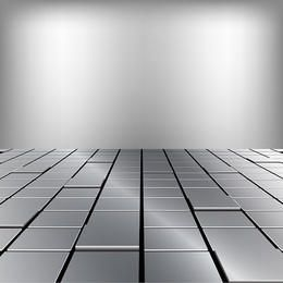 Metallic floor illustration