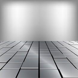 Metallische Fußbodenillustration